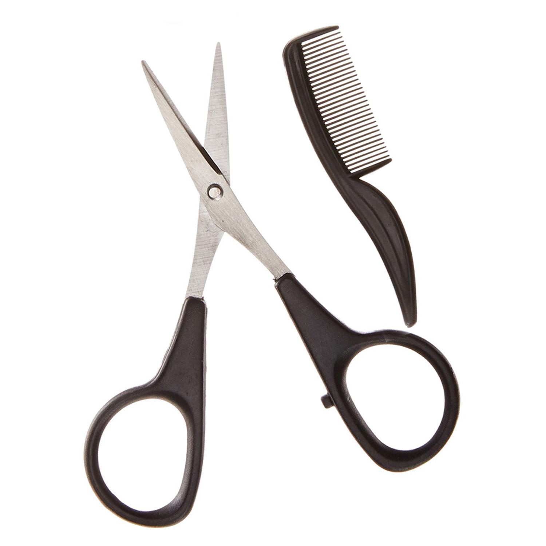 beard mustache scissors and mustache mini comb kit bou shanab. Black Bedroom Furniture Sets. Home Design Ideas